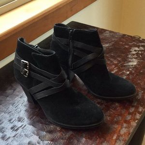 693cd3e4f Women Black Suede Lucky Brand Boots on Poshmark